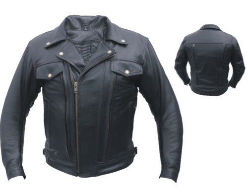 Mens Double Pistol Pete Leather Motorcycle Jacket Motorcycle Gear